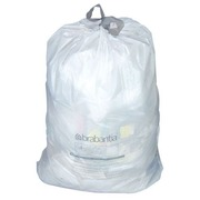 Set 20 bags, Brabantia trash can 20 liters, white