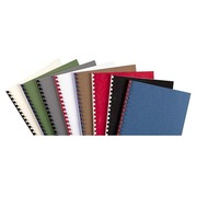 Pack of 100 leather grained cardboard covers, 270 g, red
