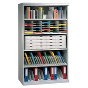Sorter with 8 adjustable divisions, grey