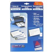 Sleeve 100 correspondence cards, format 82x128 mm Avery C-2318