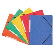 Folder with elastic without flap in cardboard Exacompta 24 x 32 cm back 3,5 cm assorted colours