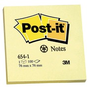 Repositionnable notes yellow recycled Post-it 76 x 76 mm - block of 100 sheets