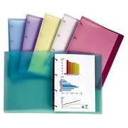 Customizable polypropylene files back 20 mm assorted pastel translucent