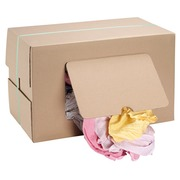 Textile rags fine cotton assorted colors  - box of 9,5 kg