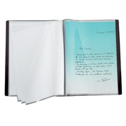 Document holders Bruneau PVC opaque A4 30 sleeves black
