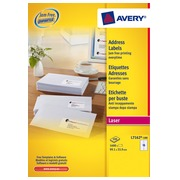 Box of 1600 address labels Avery L 7162 white 99,1 x 33,9 mm for laser printer