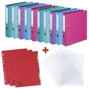 Promo pack Bruneau 10 lever arch files + 200 perforated sleeves + 10 sets of dividers