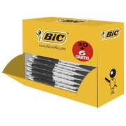 Pack of 30 ballpoint pens Bic Atlantis retractable black + 6 free