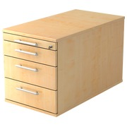 Mobile cabinet 4 drawers, extra depth Manhattan Maple