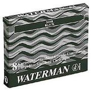 Large ink cartridge for Waterman ballpoint pens blue - Box of 8