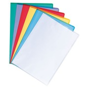 Box of 100 L-sleeves in grained polypropylene 13/100 assorted colours Maxiburo