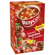 Box of 20 bags Royco Minute Soup tomatoes with crusts