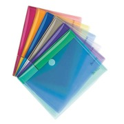 Tarifold velcro document holder 17,8 x 23 cm assorted colours - pack of 6