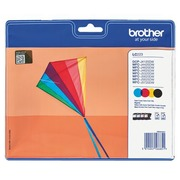 Brother LC 223 pack 4 cartridges black + colour for inkjet printer