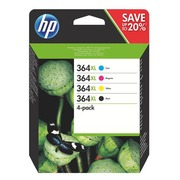 HP 364XL pack with 2 black and 1 colour cartriges high capacity