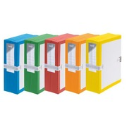 Archive folder Fast with bellows - large capacity with strap closure - back 10 cm assorted colours