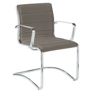 Visitor chair Milano leather - Back H 40 cm