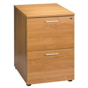 Drawer cabinet wood 2 drawers alder for hanging folders