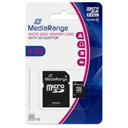 Micro SDHC Memory Card with SD Adaptor 4 Go - Class 10