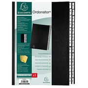 Hard sorting folder Exacompta Ordonator alphabetical 26 divisions black