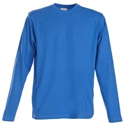 Printer Heavy T L/S Blauw 4XL