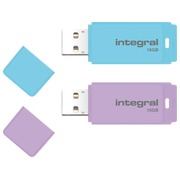 1 USB key Integral 16 GB purple + 1 USB key 16 GB blue for free