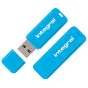 Pack of 1 + 1 USB key Integral Neon 16 GB blue