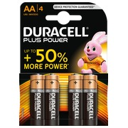 Alcaline battery AA - LR6 Duracell Plus Power - Blister of 4