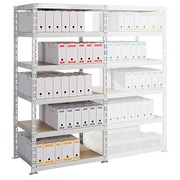 Archive rack Archiv' Eco 2 - basis element H 192.5 x W 100 x D 70 cm galvanized steel plate double access