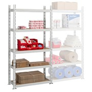 Archive rack Industri'Eco 2 basis element H 200 x W 100 x D 40 cm in galvanized steel plate
