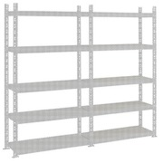 Archive rack Industri'Eco 2 extension element H 200 x W 130 x D 40 cm in galvanized steel plate