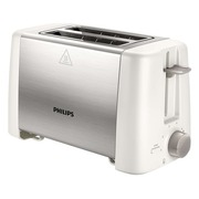 Philips Daily Collection HD4825 Metal Compact - broodrooster - wit/roestvrijstaal