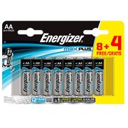Alkaline batteries AA -  LR6 Energizer Max Plus 8 pieces + 4 for free