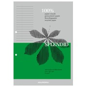 Notepad Splendid recycled paper A4 210 x 297 mm lined 100 sheets