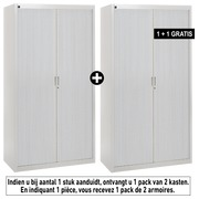 Pack tambour cabinets Bruneau H 200 cm grey/alu:  Buy 1 and get 1 in the same colour