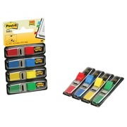 Post-it Index Smal, ft 12 x 43 mm, blister met 4 kleuren, 35 tabs per kleur, 4 + 2 blisters gratis