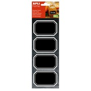 Removable chalk label octagonal 80 x 50 mm Agipa - box of 8
