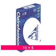 Pack of 15 reams 500 sheets paper Clairefontaine laser 2800  A4 80 g + 5 for free