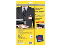 Microperforated inserts Avery for badges 54 x 90 mm - Box of 200