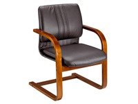 Meeting chair Zora in leather wood
