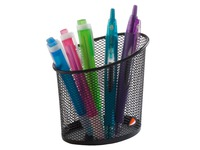 Pencil holder Alba Mesh 1 compartment - black