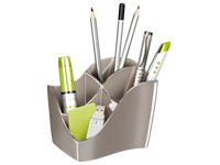 Pencil holder Cep Isis Metallic taupe