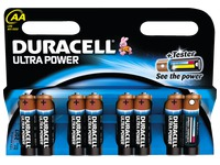 Blister met 8 batterijen AA Duracell Ultra Power