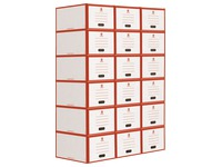 Module with drawers in cardboard Bruneau
