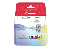 Set 3 cartridges Canon CLI 521