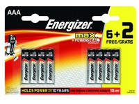 Blister of 6 batteries + 2 free LR3 Energizer Max