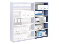 Versatile shelving, extension element, W 90 cm, with back panel