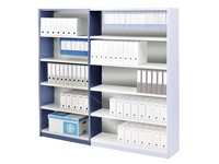 Versatile shelving, basic element, W 90 cm, with back panel
