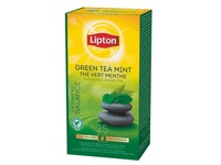 Box of 25 tea bags Lipton tea green mint
