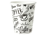 Disposable cup 'Graffiti' cardboard 23 cl - pack of 100